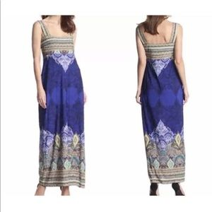 Sandra Darren Blue Paisley Maxi Dress Size 6